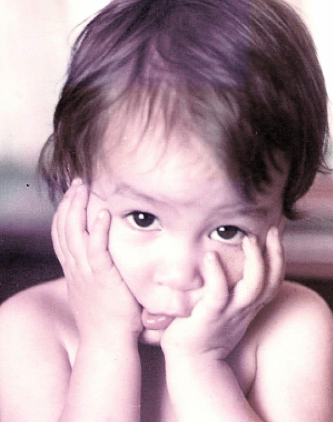 Adriana as a kid