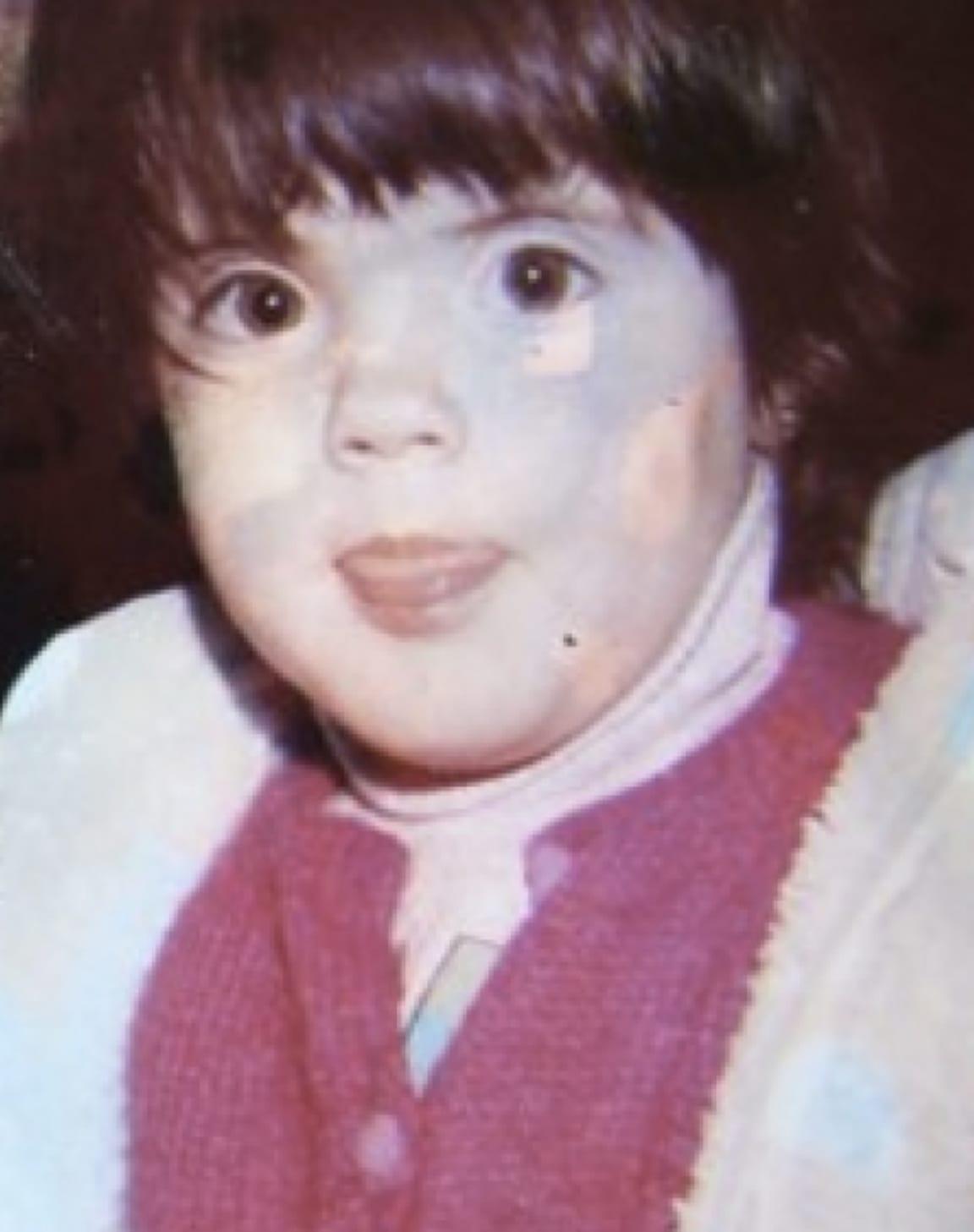 Lucia as a kid
