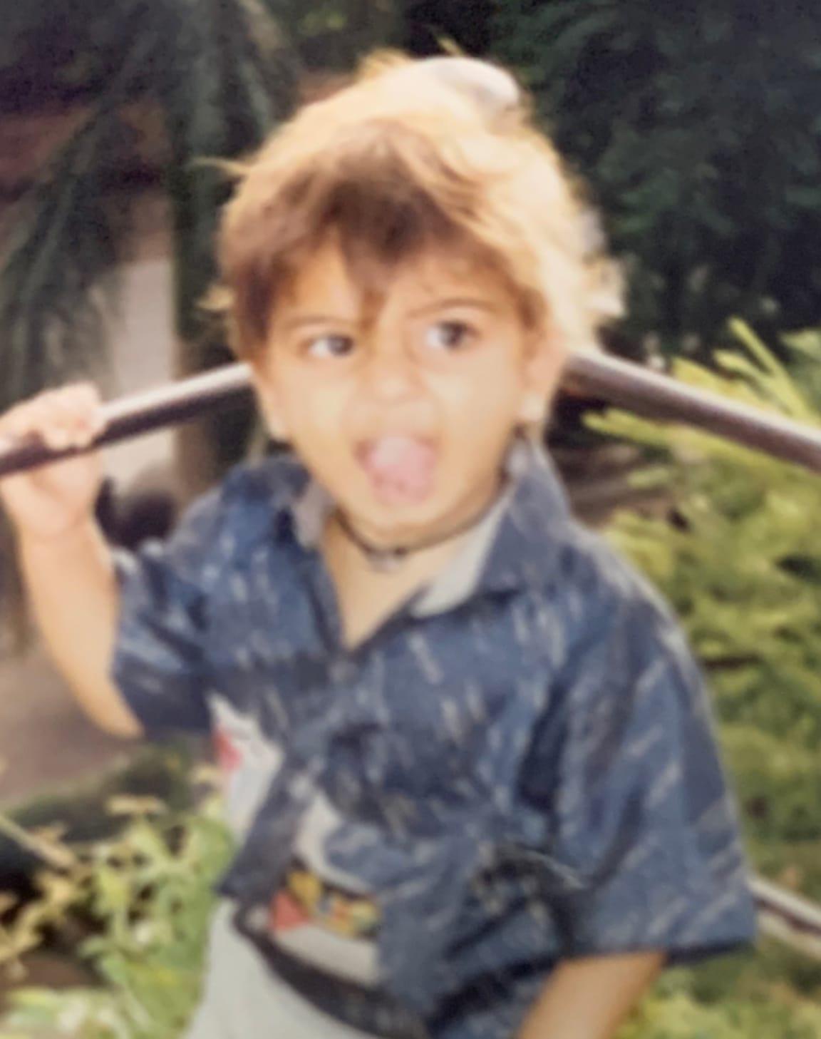 Mehul as a kid
