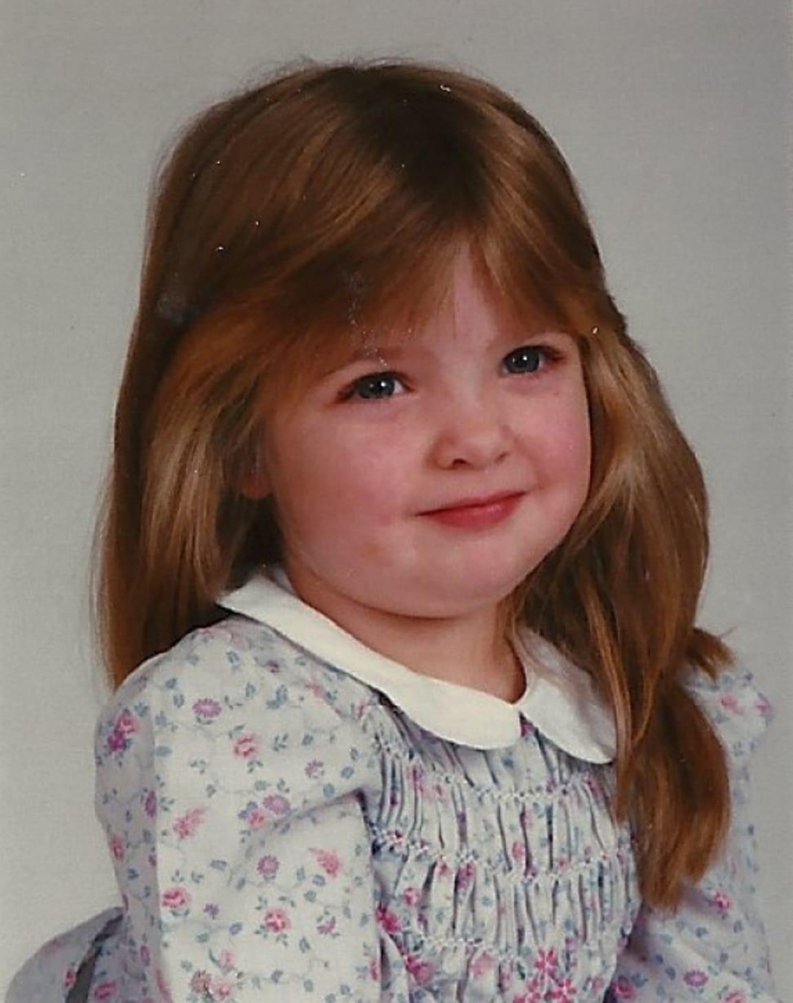 Sarah Gless as a kid