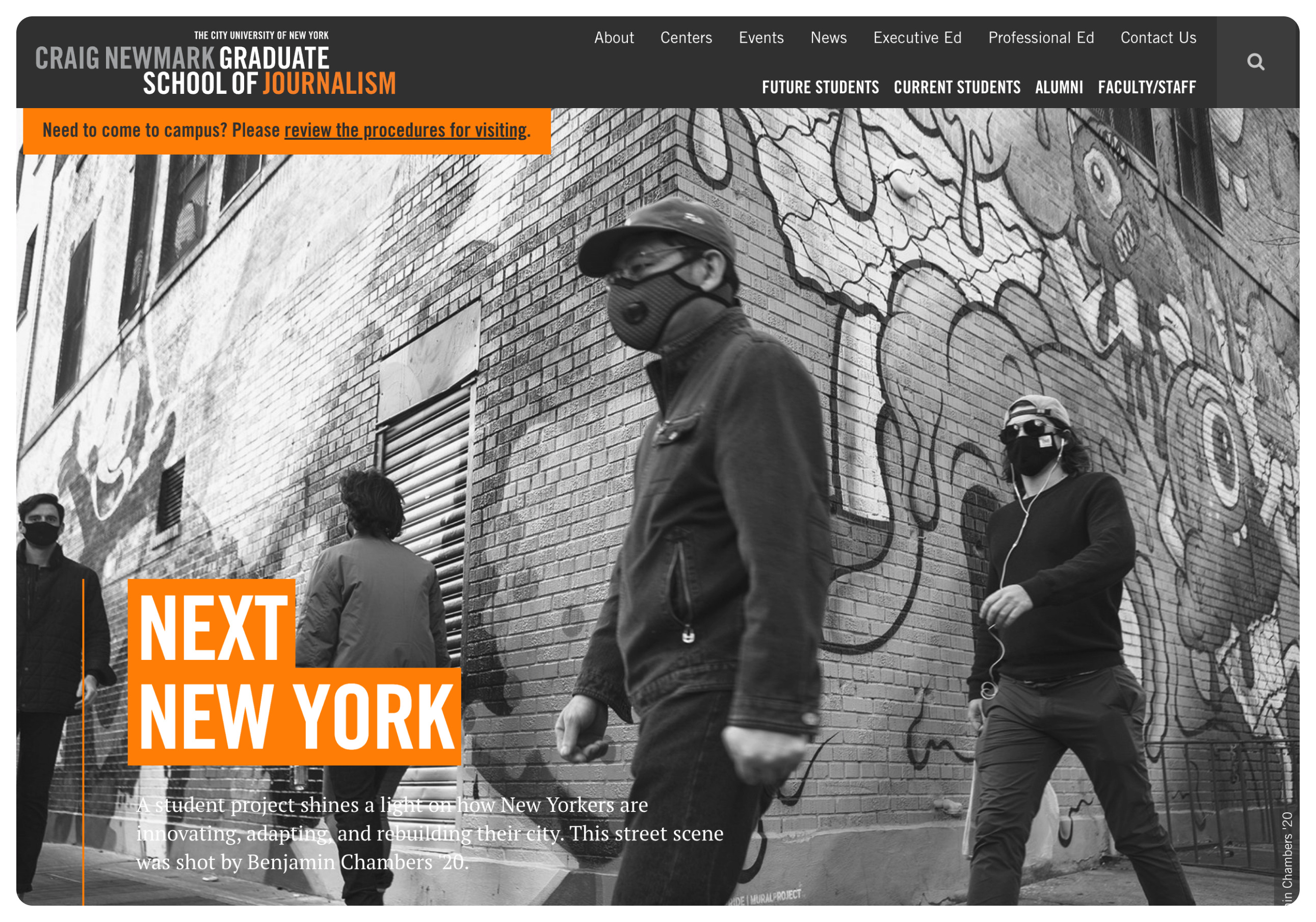 Cuny School of Journalism home page