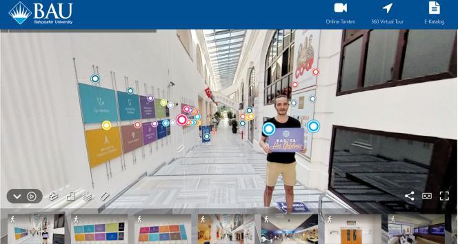 Üniversite adayı öğrencilere 360 derece sanal tur imkanı