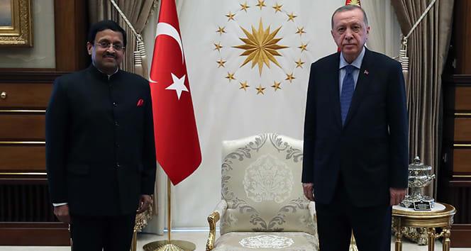 Cumhurbaşkanı Erdoğan, Hindistan Büyükelçisini kabul etti