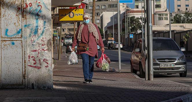 Gazze sokaklarında korona sessizliği