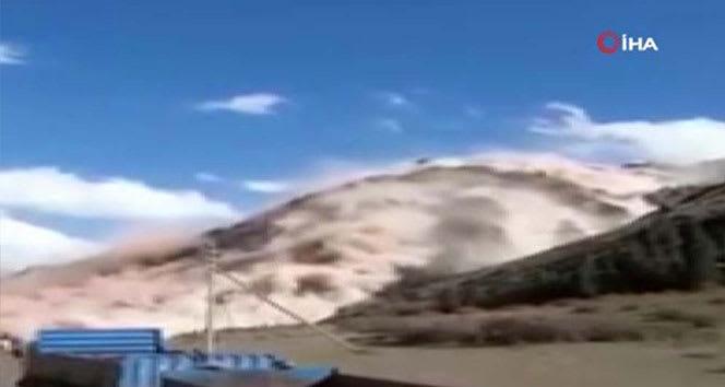 Kırgızistan'da kömür yatağında heyelan