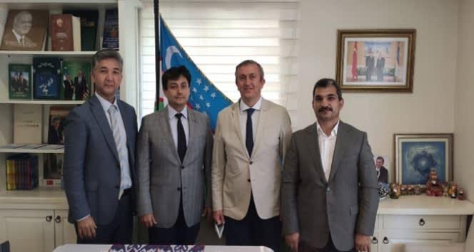 Üniversiteden Özbekistan konsolosluğuna ziyaret