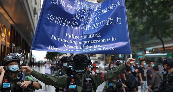 Hong Kong'da Ulusal Gün kutlamalarında protesto endişesi