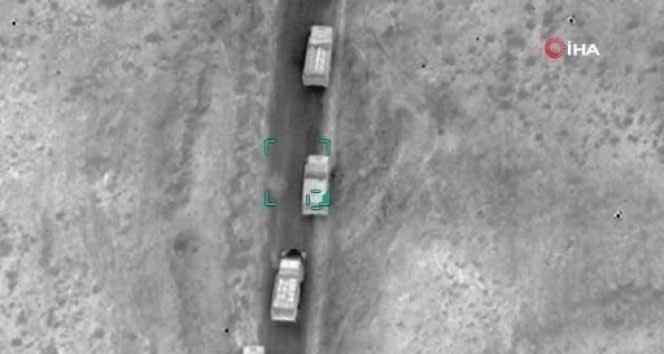 Ermenistan askeri konvoyu havadan vuruldu