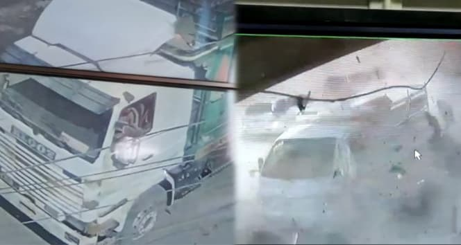 El Bab'ta patlama anı kamerada