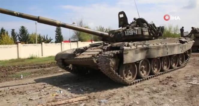 Azerbaycan, Ermenistan ordusunu ait çok sayıda tankı ele geçirdi