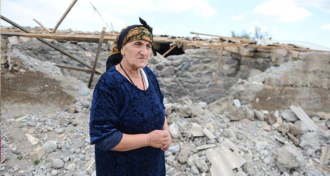 Ermenistan'ın saldırdığı Terter'deki köyler ilk defa görüntülendi