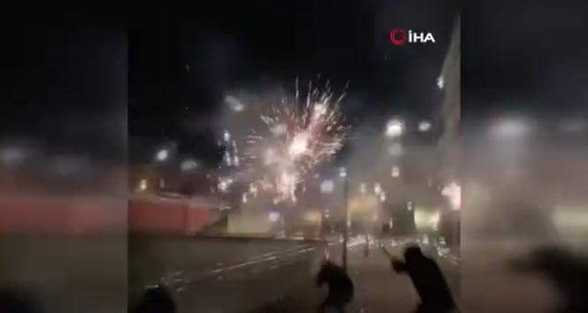 Fransa'da karakola havai fişekli saldırdı