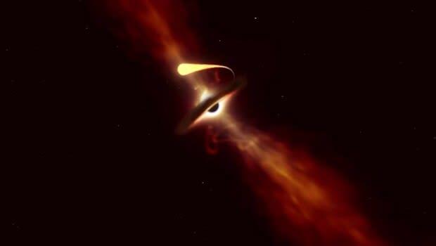 Kara delik tarafından yutulan yıldızın son anları böyle görüntülendi