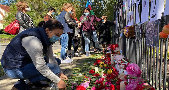 ABD'de Ermenistan'ın Gence saldırısında yaşamını kaybeden siviller anıldı