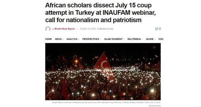"""""""15 Temmuz Darbe Girişimi"""" Afrika basınında"""