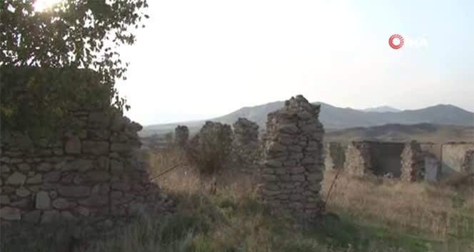 Ermenistan işgalin kurtarılan Çereken köyü'nün görüntüleri paylaşıldı