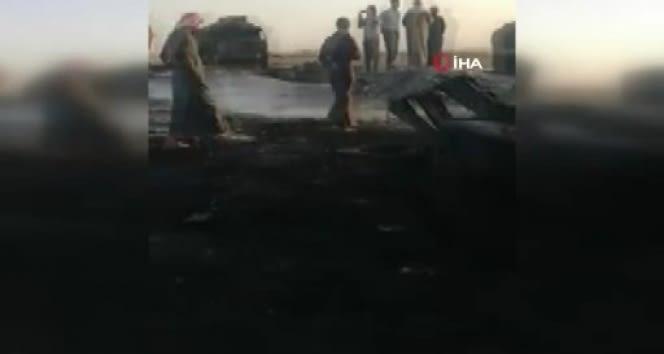 Cerablus'ta yangın 8 saat sonrasında söndürüldü