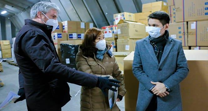 Almanya'dan Covid-19 hastalarının tedavisi için Kırgızistan'a tıbbi yardım