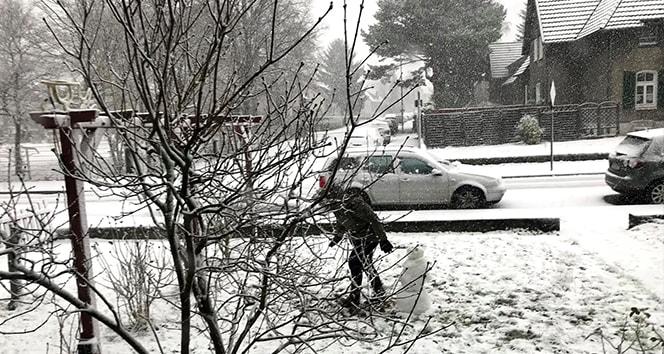 Almanya'da kar yaşamı nüzul etti