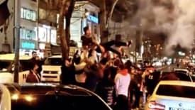 Asker uğurlama terörü kamerada! Yasağa karşın İstanbul trafiğinin altını üzerine getirdiler