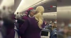 ABD'de yolcu uçağında maske takmadı, kabin görevlisine hücum etti