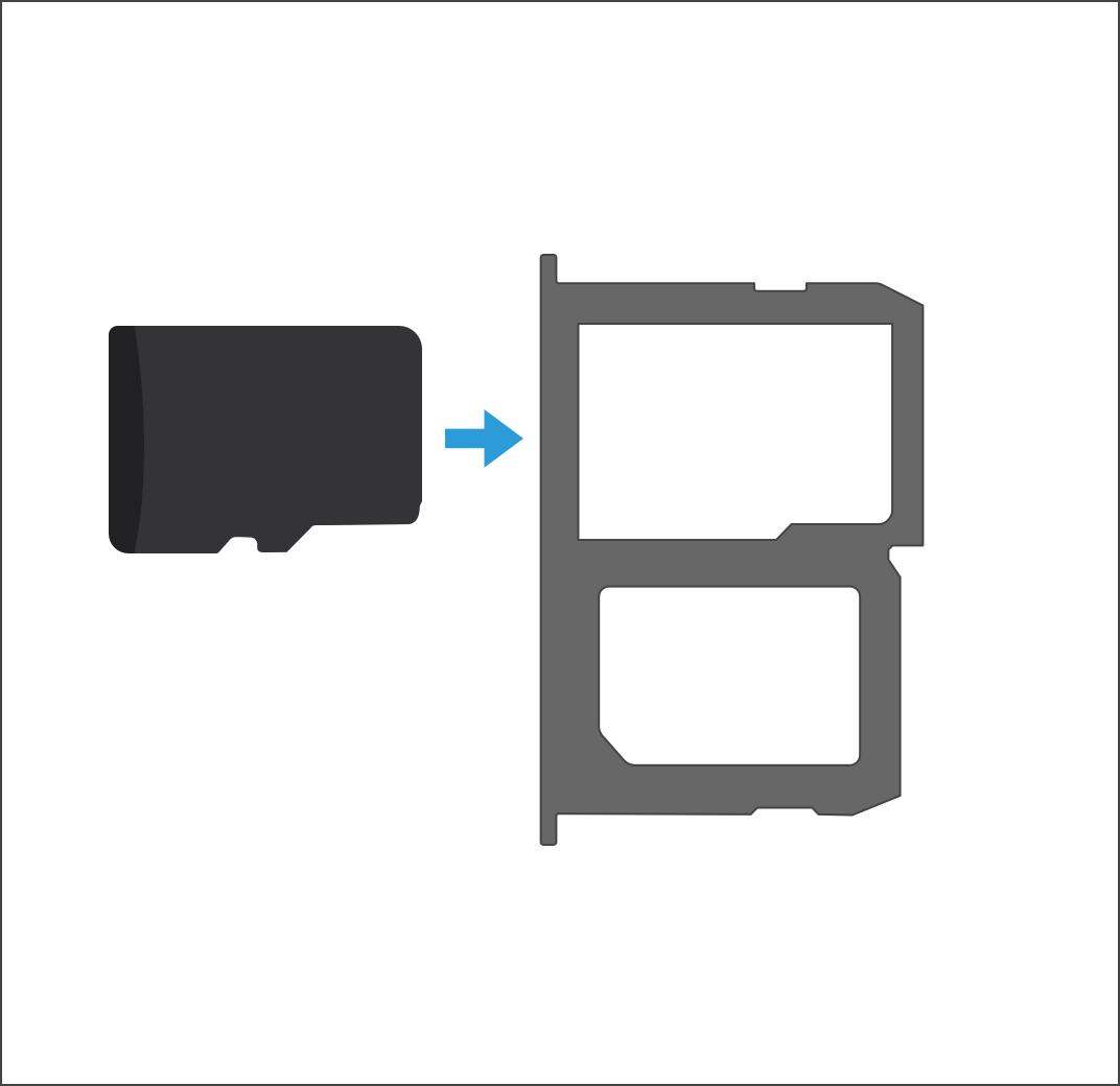 How do I insert a microSD card on my LG X power?