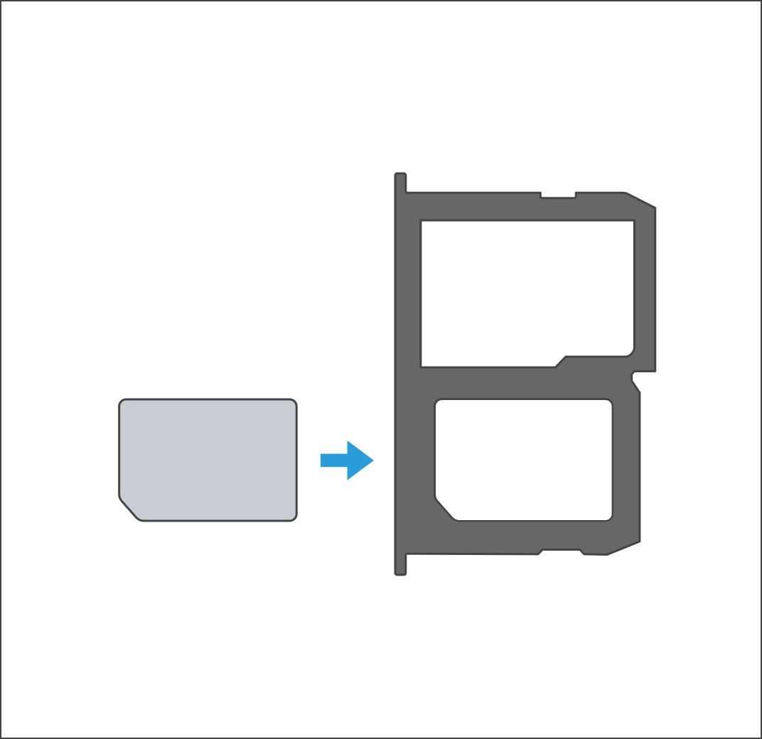 How do I insert the SIM card on my LG X power?