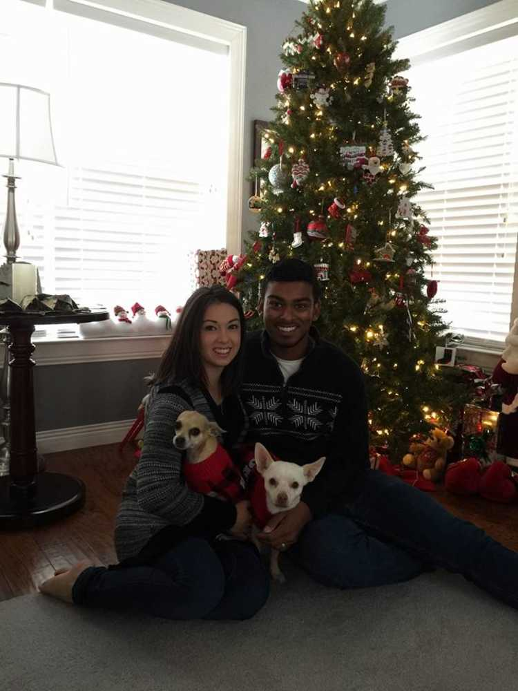 Our little family at Christmas time