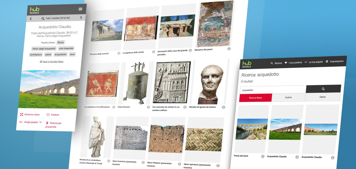 Un'anteprima delle viste dell'applicazione responsive per Mondadori Hub Scuola