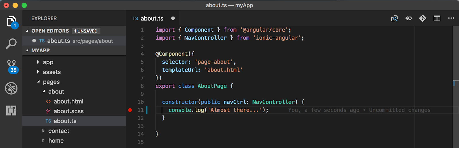 ionic-cordova-debug-device-visual-studio-code-execute
