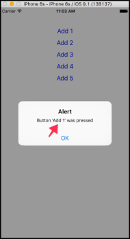 Alert from Button Again