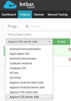 Using Bitbar CI for Cross Platform Mobile Testing, Management Panel