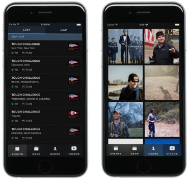 GORUCK app release screenshots