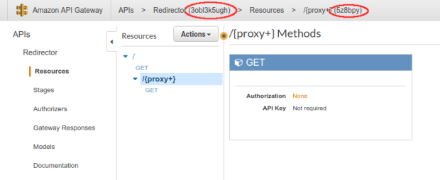 Redirects Requests to a Domain with AWS Lambda, API Gateway Test Invoke Method Parameters