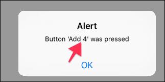 Alert on Button 4