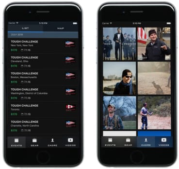 GORUCK app release screenshots