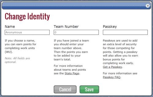 Folding@Home Identity