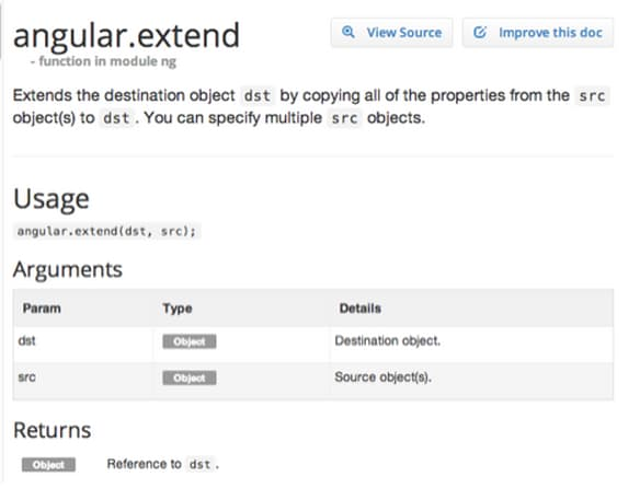 AngularJS: Tricks with angular.extend()