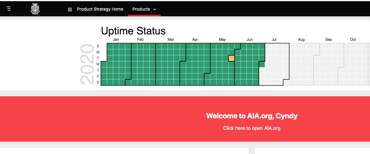 AIA Portal Uptime Status Screenshot