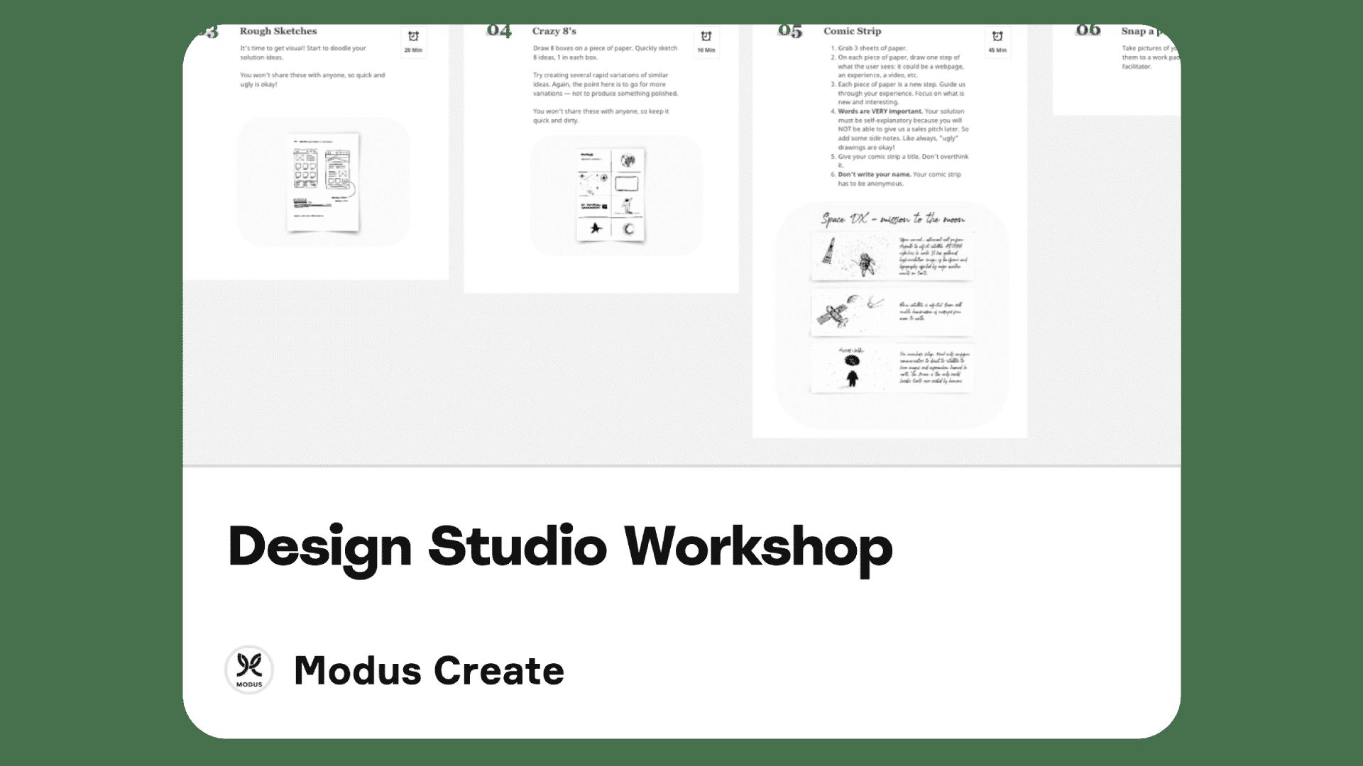 Modus Create Customer Experience Design Studio Workshop