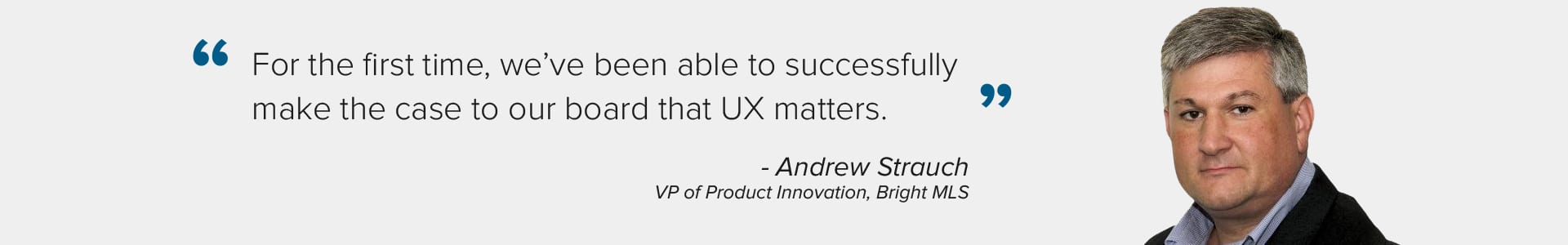 Quote from Andrew Strauch