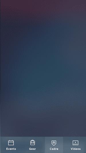 Designing the GORUCK App: blurred background