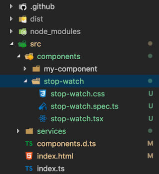 Building Web Components using Stencil, Stop Watch Component
