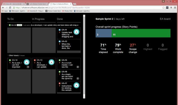Viewing Jira Dashboard Screen 2