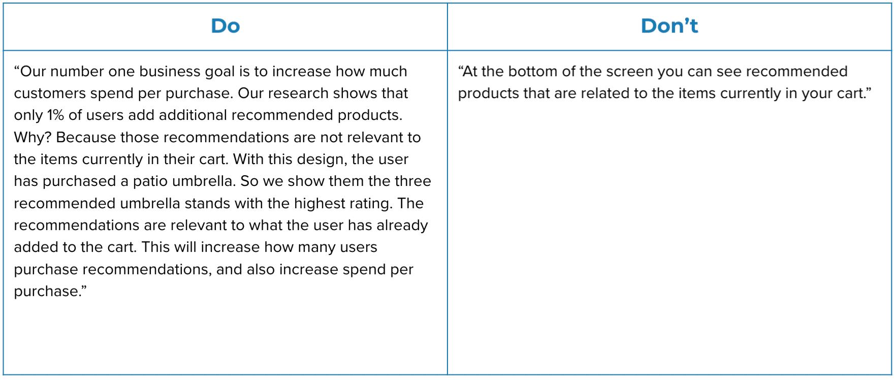 Design Presentation - Explain Rationale