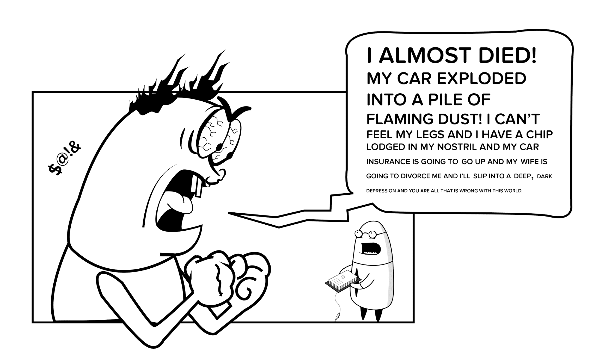 UX Comic illustrating why qualitative data is important - cell 11