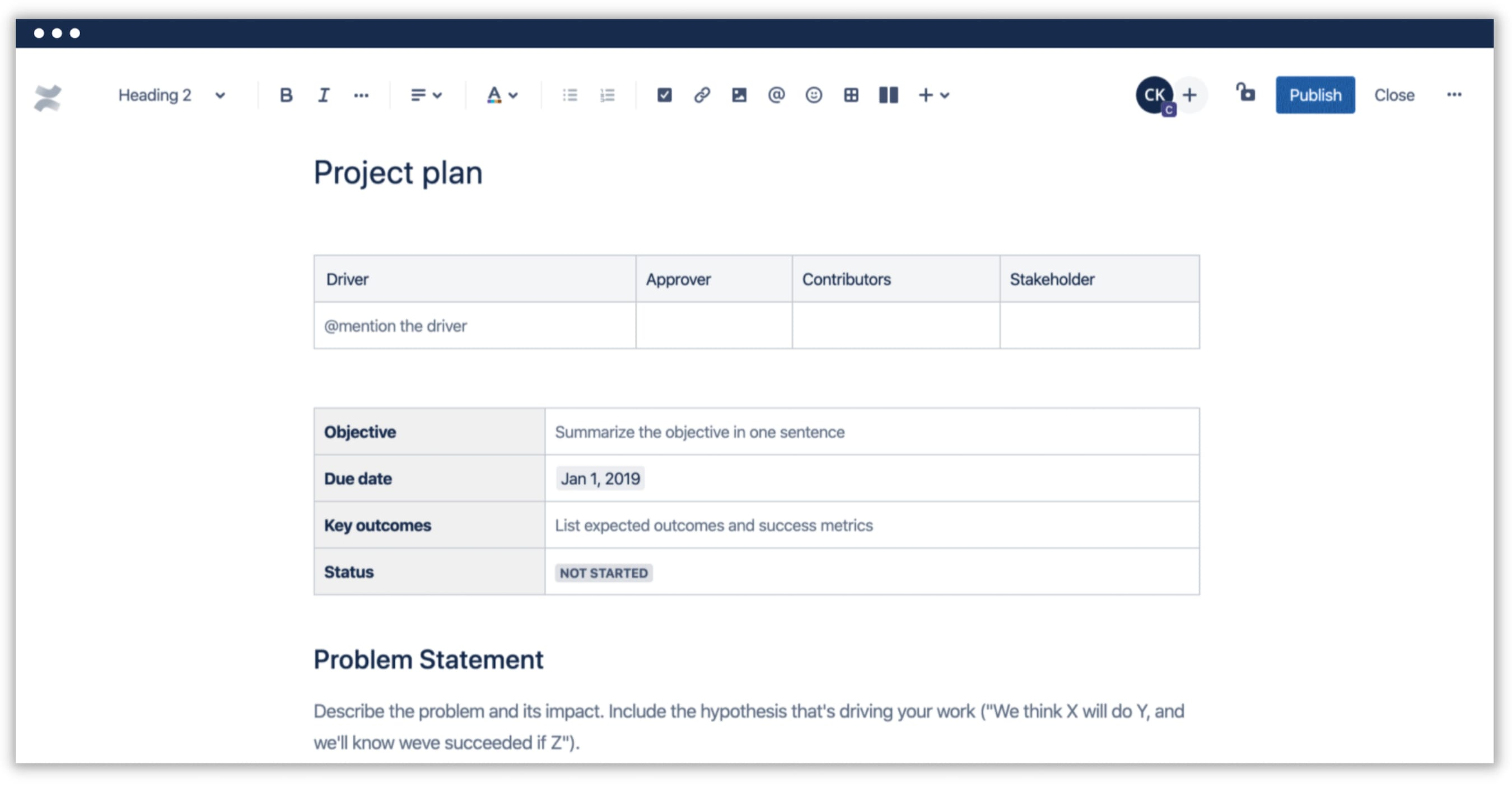Confluence project management software