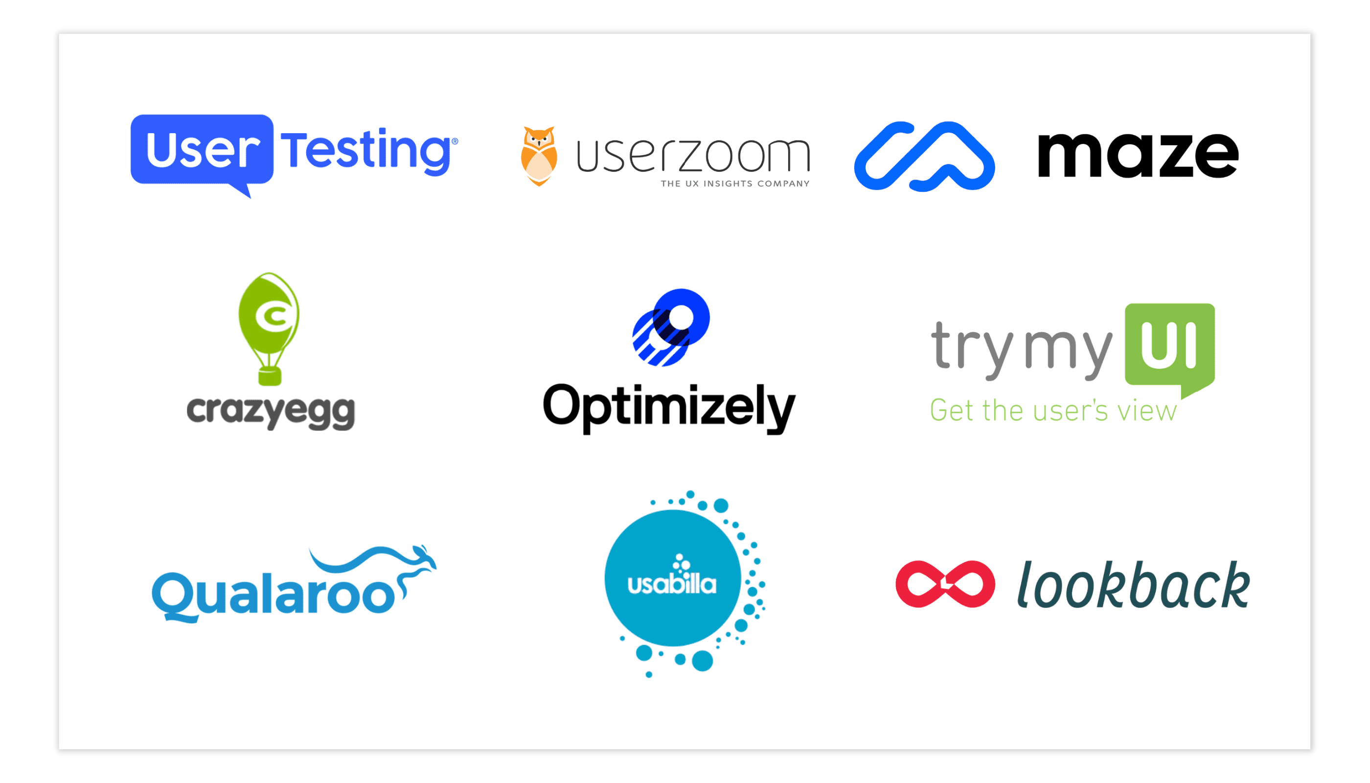 Usability Testing Tools Logos