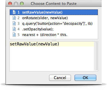 IntelliJ IDEA Keyboard Shortcut: Paste from five previous copies -Cmd + Shift + V
