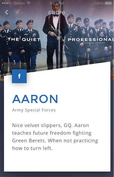Designing the GORUCK App: angles